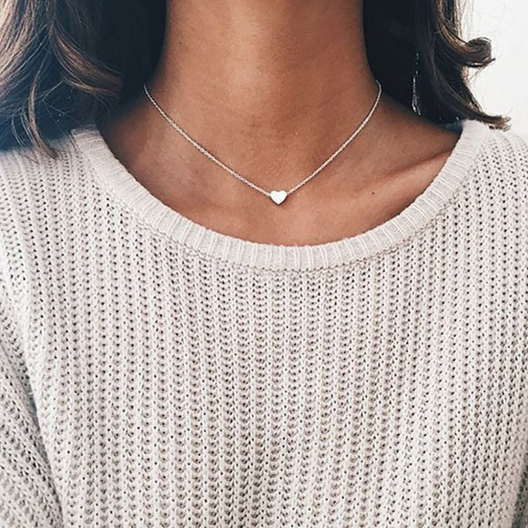 Dainty Heart Necklace [Silver]